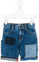 Little Marc Jacobs patchwork denim shorts - kids - Cotton/Polyester - 4 yrs