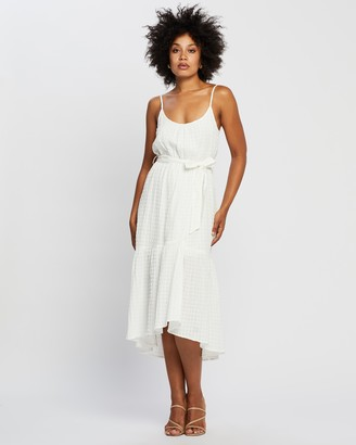 Staple the Label - Women's White Midi Dresses - Aries Ruffled Sundress - Size 10 at The Iconic