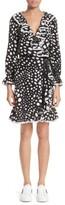 Marc Jacobs Women's Polka Dot Ruffle Silk Wrap Dress