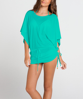 Luli Fama Teal South Beach Cover-Up