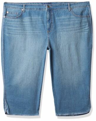 Bandolino Women's Plus Size Mandie 5 Pocket High Rise Capri