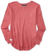 Ralph Lauren Girls 7-16 Waffle-Knit Cotton Top