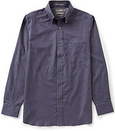 Daniel Cremieux Signature Long-Sleeve Slim-Fit Heather Checked Woven Shirt
