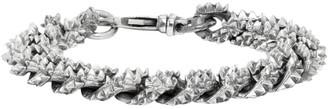 Emanuele Bicocchi Silver Flat Curb Chain Bracelet
