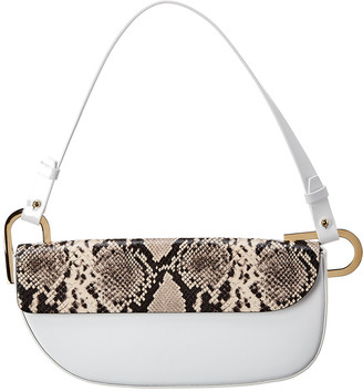 Nico Giani Tilly Snake-Embossed Leather Baguette Bag