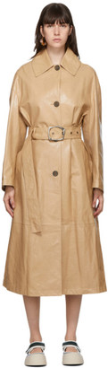 Marni Beige Lambskin Coat