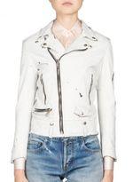 Saint Laurent Paint-Splatter Leather Moto Jacket