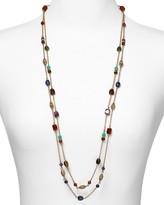 Color Bazaar Two Row Beaded Necklace, 36