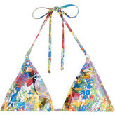 Stella McCartney Printed Triangle Bikini Top