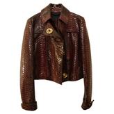 Burberry Burgundy Exotic leathers Jacket