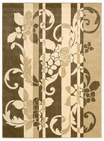 "Nourison Area Rug, Somerset ST65 Damask Stripe Brown 5' 6"" x 7' 5"""