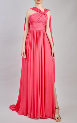 Elie Saab Silk Chiffon Maxi Dress