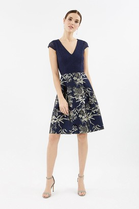 Coast Lace Jacquard Full Skirted Dress