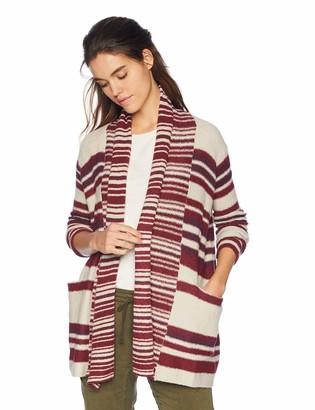 Lucky Brand Women's Stripe Multi Cardigan Sweater