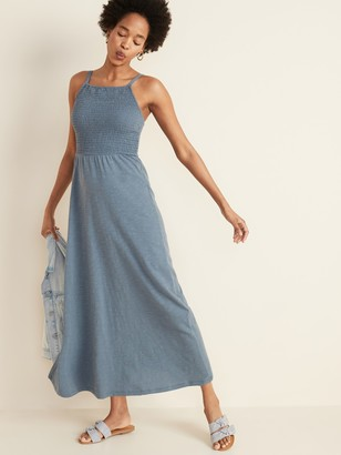Old Navy Smocked-Top Slub-Knit Maxi Sundress for Women