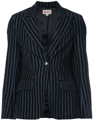 Miaou Striped Velvet Blazer