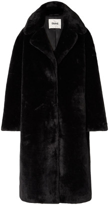 Stand Studio Camilla Oversized Faux Shearling Coat
