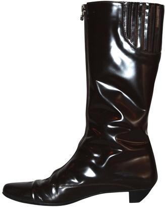 Salvatore Ferragamo \N Brown Patent leather Boots