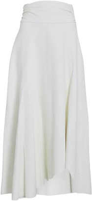 IRO Eloge Asymmetrical Leather Midi Skirt