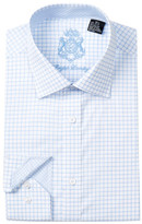 English Laundry Windowpane Check Trim Fit Dress Shirt