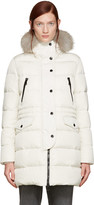 Moncler Ivory Fur & Down Fragonette Coat