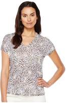 Nic+Zoe Beach Dots Top Women's Clothing