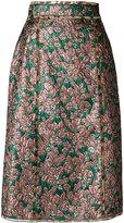 Dolce & Gabbana metallic midi skirt - women - Silk/Polyester/Spandex/Elastane - 40