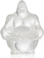 Lalique Crystal Gorilla Sculpture/Figurine, Clear