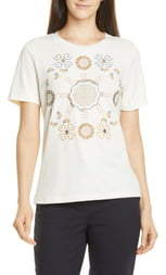 Tory Burch Embroidered Logo Tee