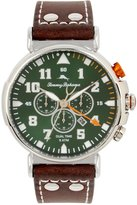 Tommy Bahama Bay View Dual-Time Chronograph & Date Leather-Strap Watch