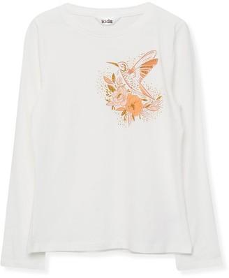 M&Co Glitter hummingbird t-shirt (3-12yrs)
