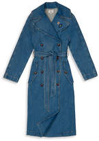Tommy Hilfiger Tommy x Gigi Denim Trench Coat with Patches