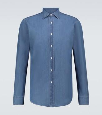 Ralph Lauren Purple Label Long-sleeved light denim shirt