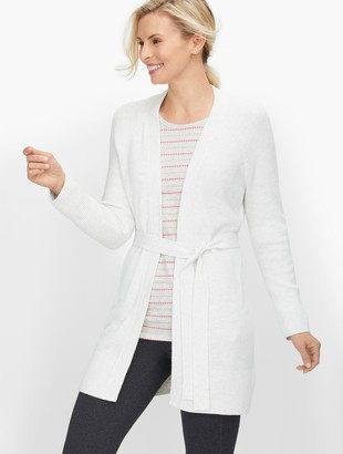 Talbots Open Front Belted Cardigan