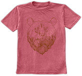 Urban Smalls Heather Red Bear Head Crewneck Tee - Toddler & Boys