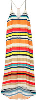 Alice + Olivia Cortes Striped Georgette Midi Dress - White