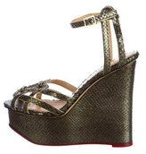 Charlotte Olympia 2016 Python Wedges w/ Tags