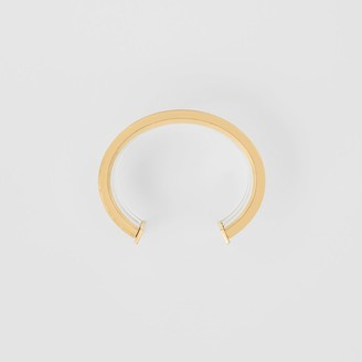 Burberry Resin and Gold-plated Cylindrical Cuff