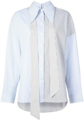 Tibi collage stripe shirt