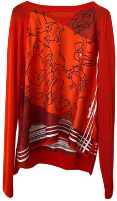 Hermes Orange Silk Knitwear