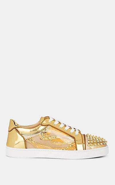 watch 02ec3 644cb Men's Seavaste Spiked Leather Sneakers - Gold
