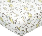 Swaddle Designs Fitted Crib Sheet - Triplets Paisley-Pastel Blue