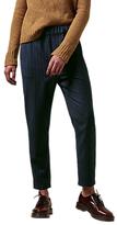 Toast Pinstripe Pull On Trousers, Dark Navy