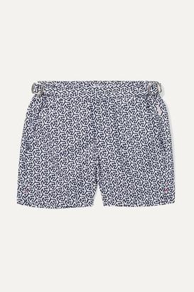 Orlebar Brown Kids - Russell Mira Printed Swim Shorts - Navy