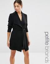 Vero Moda Petite Drape Belted Coat
