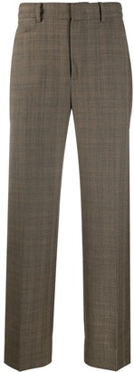 Ader Error Asymmetrical Pocket Checked Trousers