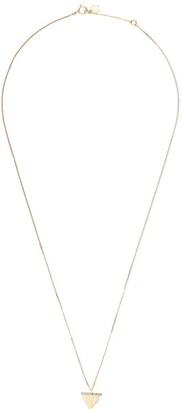 Feidt Paris 9kt yellow gold Dent De Requin sapphire pendant necklace