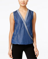 INC International Concepts Surplice Chambray Top, Only at Macy's