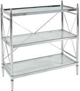 Asstd National Brand Pinnacle Chrome and Glass Bathroom Shelf