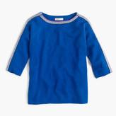 J.Crew Girls' sparkle-trim popver sweater